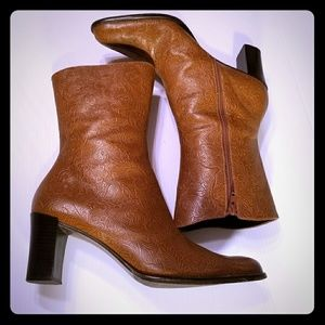 A Marinelli Archer Embossed Leather Boots